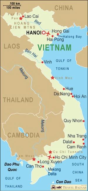 Vietnam map Introduction
